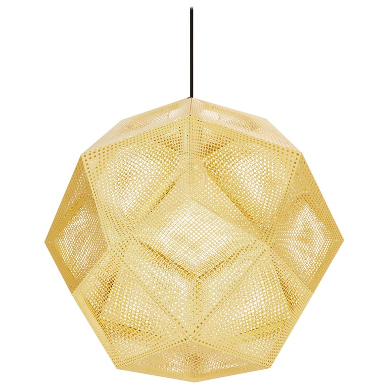 Etch Large Pendant Light in Brass by Tom Dixon For Sale