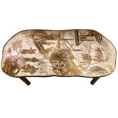 Etched and Patinated Bronze Laverne Coffee Table