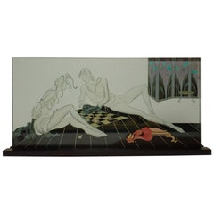 Etched Art Glass Panel Sculpture by Wendy Saxon Brown