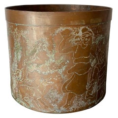 Etched Copper Planter Style of LaVerne