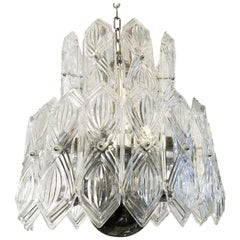 Etched Glass Chandelier