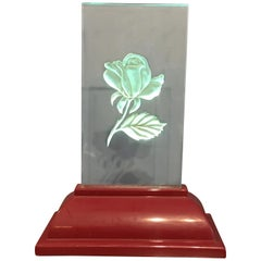 Etched Glass Light Up Rose