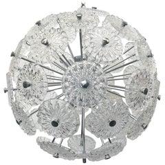 Etched Glass Sputnik Chandelier