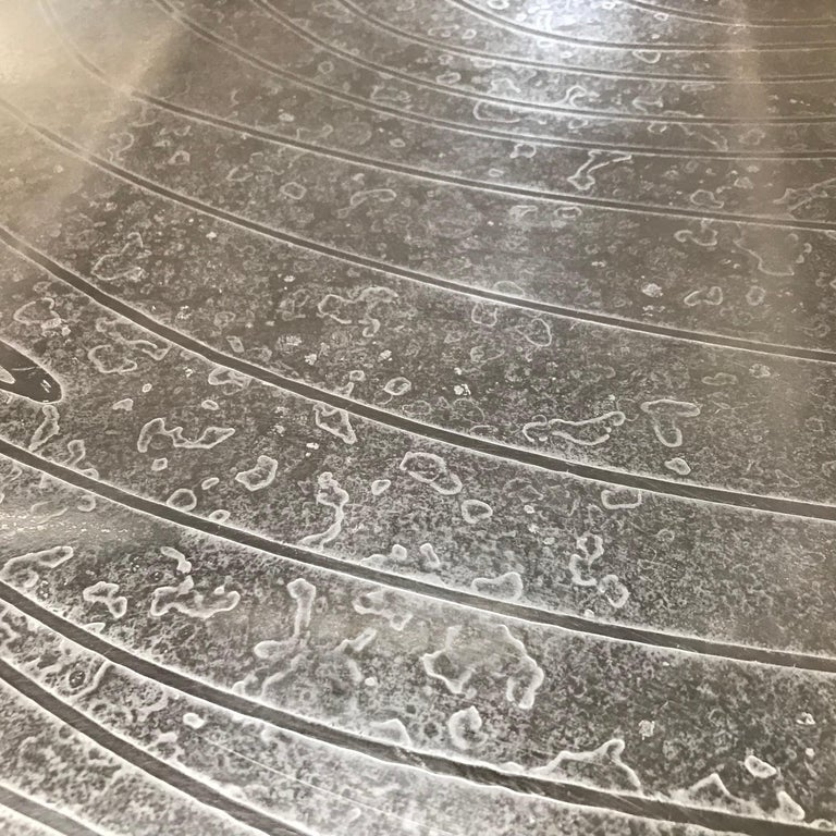 Etched Pewter Coffee Table by Christian Krekels In Good Condition For Sale In Pasadena, CA