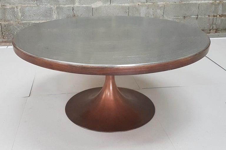Etched Pewter Coffee Table by Christian Krekels For Sale 1