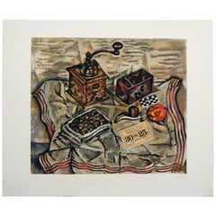Etching & Aquatint 'after' Joan Miro, 1954, Le Moulin a Cafe 'Coffee Grinder'