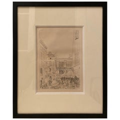 Etching for Chapter XIV of 'La Belle Enfant' by Raoul Dufy