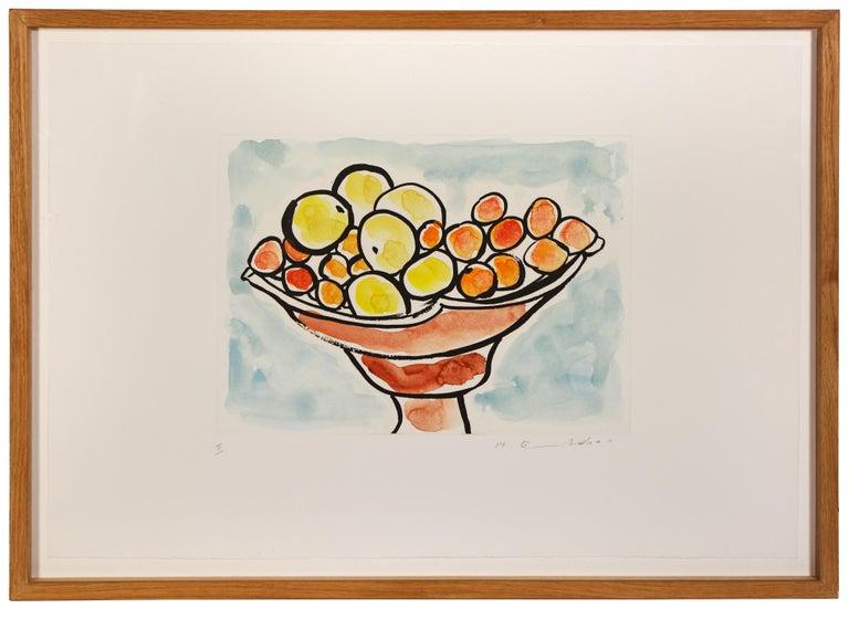 Etel Adnan, Compotier 111, etching, signed, 2015 - Impressionist Print by Etel Adnan