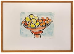 Etel Adnan, Compotier 111, etching, signed, 2015