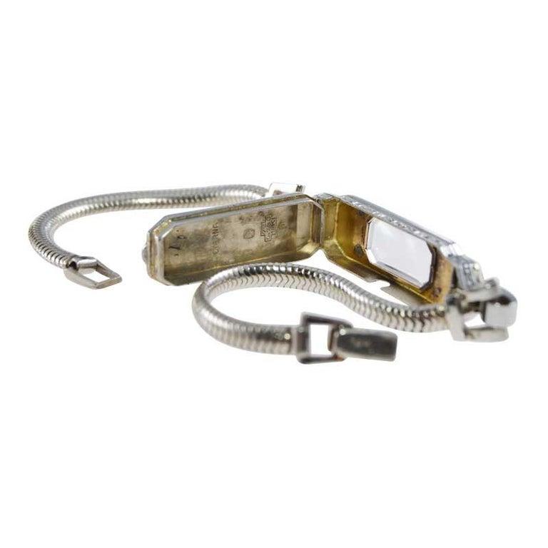 Eterna 18Kt Two Tone Art Deco Ladies Bracelet Watch All Original, circa 1930's For Sale 6