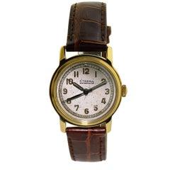 Eterna Yellow Gold Art Deco Original Dial Manual Wind Wristwatch, circa 1940s