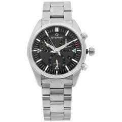 Eterna KonTiki Chronograph Steel Black Grey Quartz Men's Watch 1250.41.41.0217