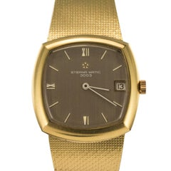 Eterna-Matic 3000 yellow gold vintage Automatic Wristwatch, 1960s