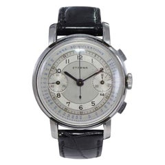 Eterna Stainless Steel 1930's Doctor's Pulsation Chronograph Watch