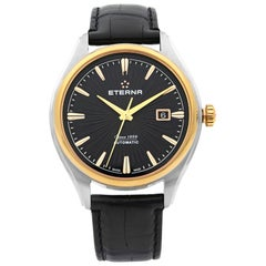 Eterna Stainless Steel Black Dial Automatic Men's Watch 2945.51.41.1337