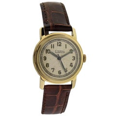 Eterna Yellow Gold Art Deco Original Dial Manual Wind Watch, circa 1940s