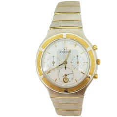 Eterna Yellow Gold Stainless Steel Airforce Chronometer Quartz Wristwatch