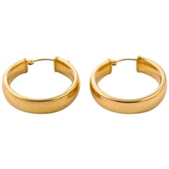 EternaGold 14K Gold Polished Hoop Earrings