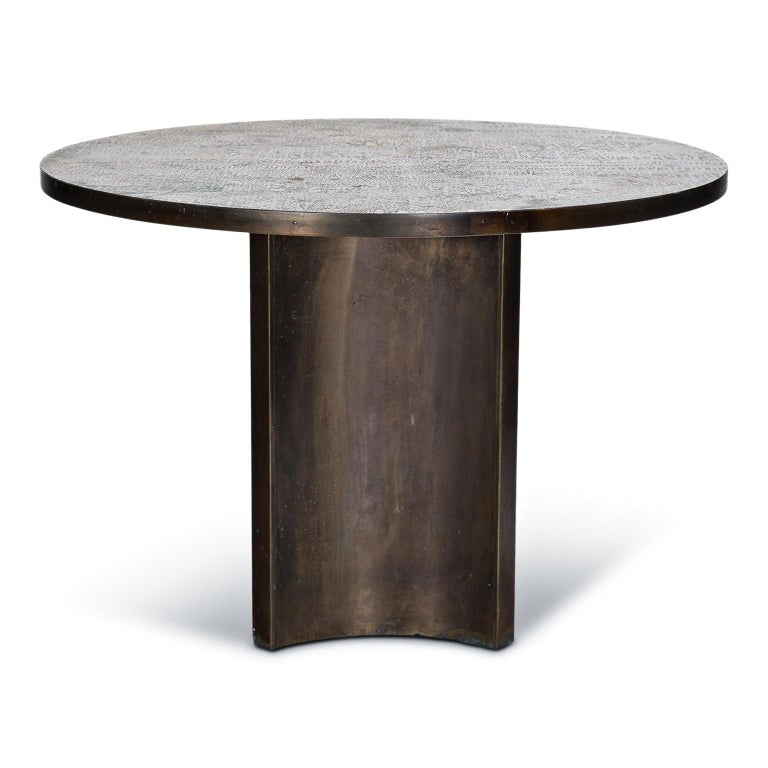 Hand-Crafted Eternal Forest Bronze Dining Table by Philip and Kelvin LaVerne, circa 1965 For Sale
