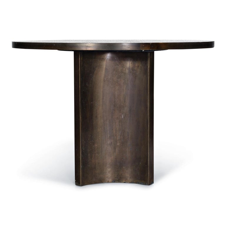 Eternal Forest Bronze Dining Table by Philip and Kelvin LaVerne, circa 1965 In Excellent Condition For Sale In Los Angeles, CA
