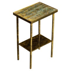 Eternal Forest Bronze Drinks / Laptop Table by Philip and Kelvin LaVerne, c 1965