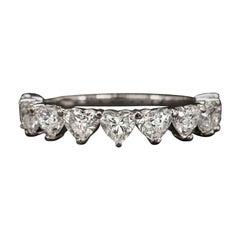 Eternity 1.72 Carat Heart Shape Diamond Band Ring
