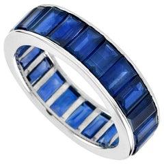 Eternity Baguette Blue Sapphire Ring