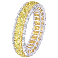Eternity Band with Baguette Full, 6.19 Carat