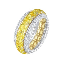 Eternity Band Full with Round, 6.47 Carat