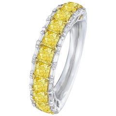 Eternity Band Half with Baguettes, 2.06 Carat