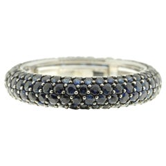 Eternity Band in Blue Sapphire and 18 Karat White Gold
