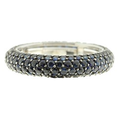 Eternity Band in Blue Sapphire and White Gold