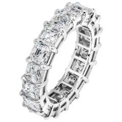 Eternity Band with 5.75 Carat Asscher Cut Diamonds