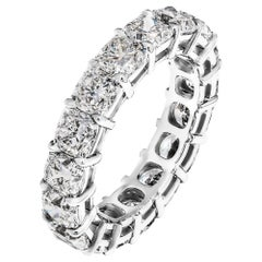 Eternity Band with 6.15 Carat Cushion Cut Diamonds