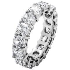 Eternity Band with 8.59 Carat Cushion Cut Diamonds