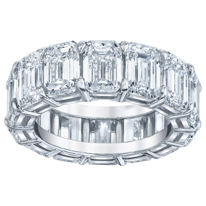 Eternity Band with Emerald Cut Diamonds