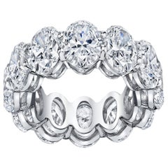 Eternity Band with Oval Cut Diamonds