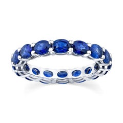 Eternity Band with Oval shaped Blue Sapphires