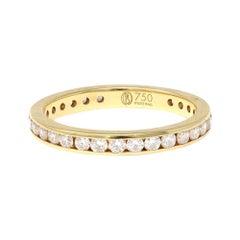 Eternity Channel Set Diamond Band Ring in 18 Karat Yellow Gold