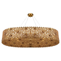 Eternity IV Chandelier in Gold Plated Brass with High Gloss Finish