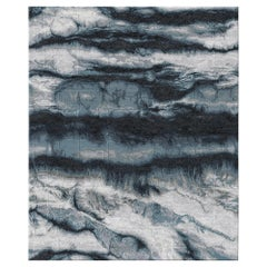 Eternity Lapse Hand Knotted Wool and Silk Rug 5 x 8ft
