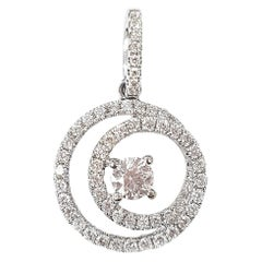 Eternity Pendant in Brilliant White Diamond and 18 Karat White Gold