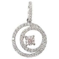 Eternity Pendant in Brilliant White Diamond and 18 Karat White Gold