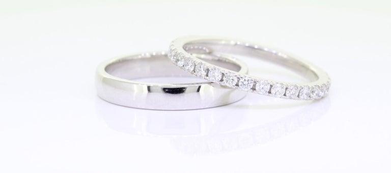 Round Cut Eternity Platinum Wedding Band 3/4 Carat For Sale