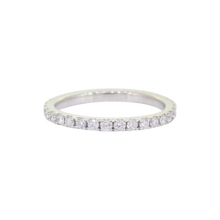 Eternity Platinum Wedding Band 3/4 Carat For Sale