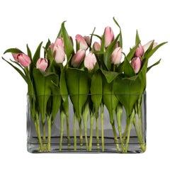 Eternity Rectangular Milos Set Arrangement, Pink Flowers, Italy