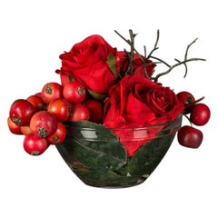 Eternity Red Fruits Bouquet Set Arrangement, Flowers, Italy