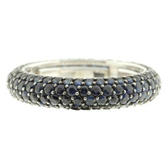Eternity Ring in Blue Sapphire and White Gold