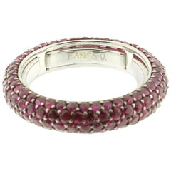 Eternity Ring in Ruby and 18 Karat White Gold