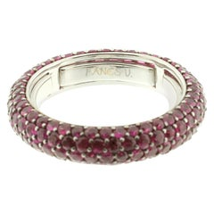 Eternity Ring in Ruby and White Gold